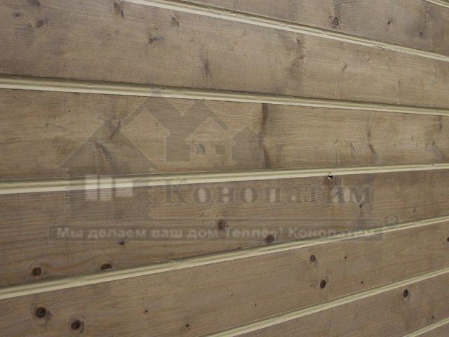 Фото-покраска и теплый шов внешних стен дома из профилированного бруса в пос. Молодежное.